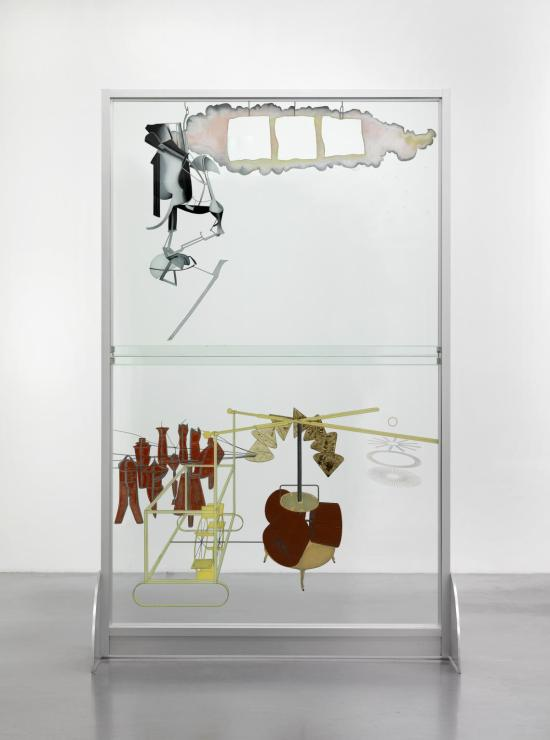 The Bride Stripped Bare by her Bachelors, Even (The Large Glass) 1915-23, reconstruction by Richard Hamilton 1965-6, lower panel remade 1985 by Marcel Duchamp 1887-1968